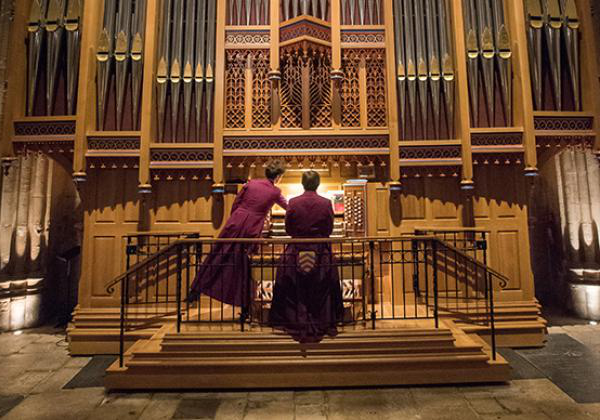 The organist at the 2018 Advent Carol Service - Photo: © John Cairns - www.johncairns.co.uk