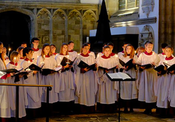 The 2019 Advent Carol Service. - Photo: © Hugh Warwick - www.hughwarwick.com