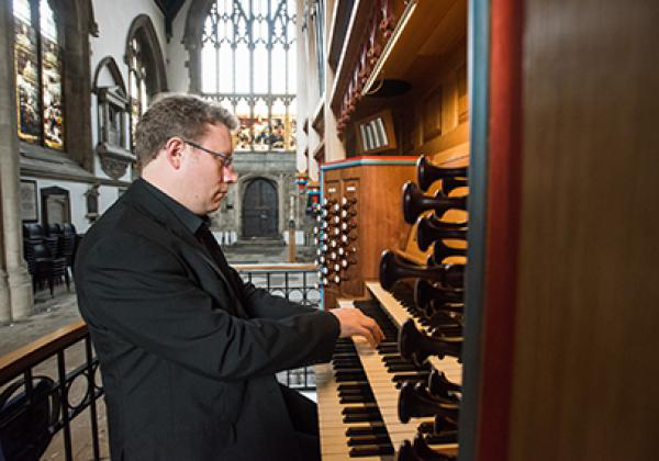 Benjamin Nicholas playing the Dobson Organ - Photo: © John Cairns - www.johncairns.co.uk